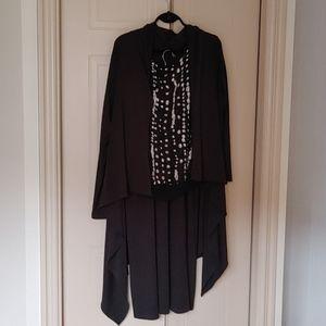 Simon Chang ankle length skirt & shawl/sweater